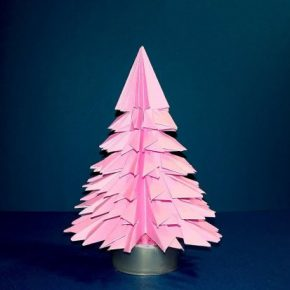 Елочка оригами из бумаги — простые инструкции чтобы сделать елочку своими руками +фото и видео!