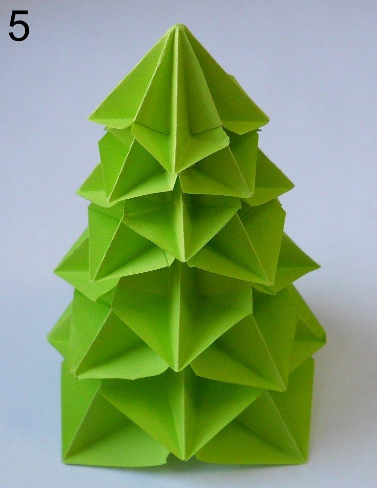пришлось пошаговое фото оригами елочка все времена