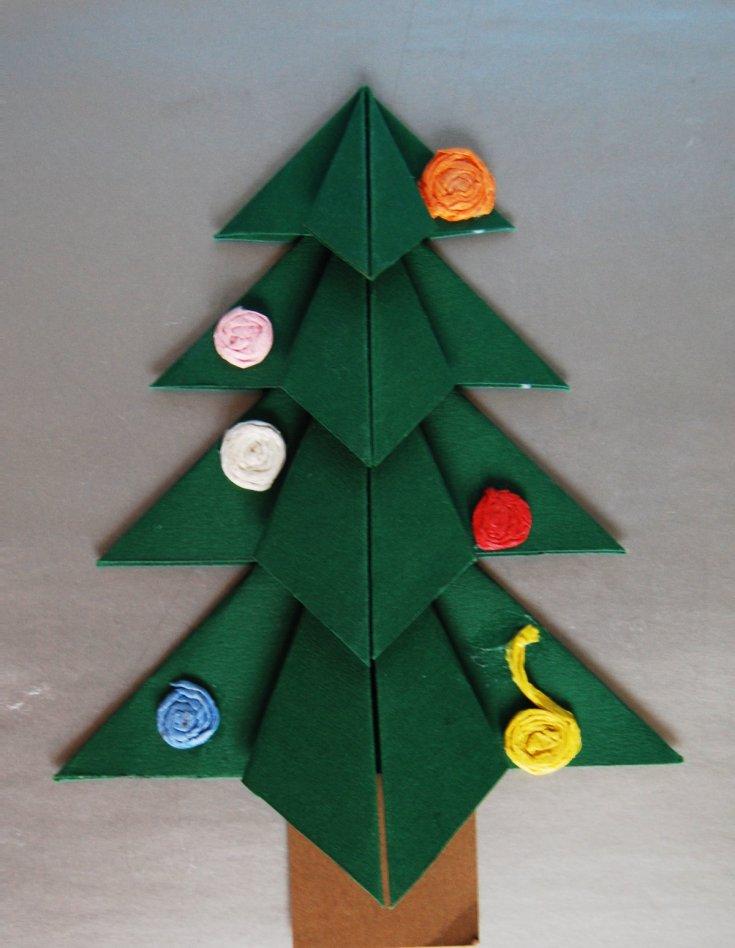 достижения пошаговое фото оригами елочка слова