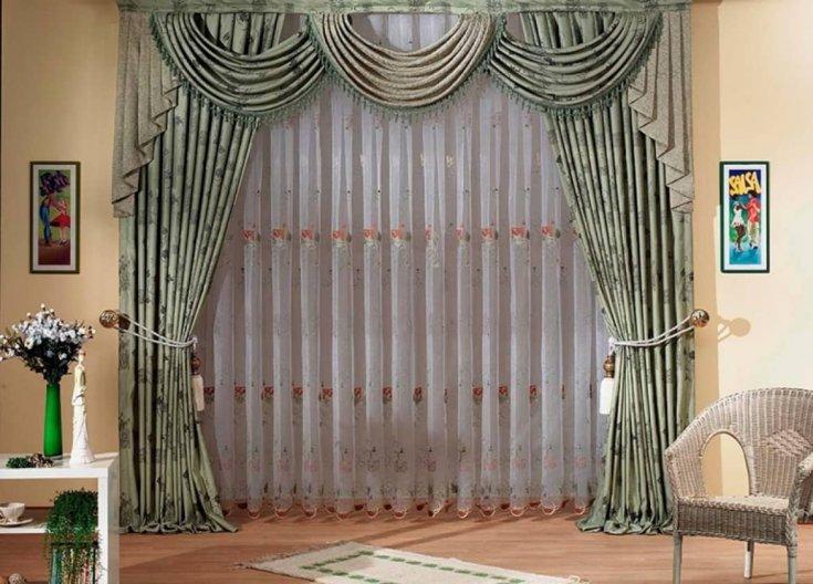Правильная длина штор для гостиной фото торжество организовали