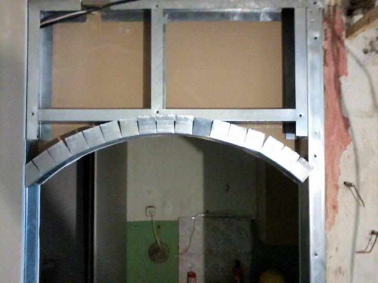 фото размеры дверной арки гипсокартона с аркой должна быть