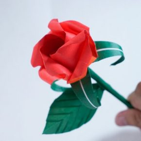 Роза из бумаги (оригами) — лучший мастер-класс от профи! Смотрите фото готовых поделок а также простую инструкцию с подробным описанием