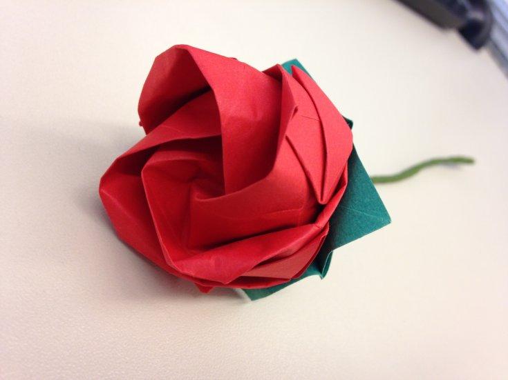 модуль оригами роза красная фото зарубежных источниках