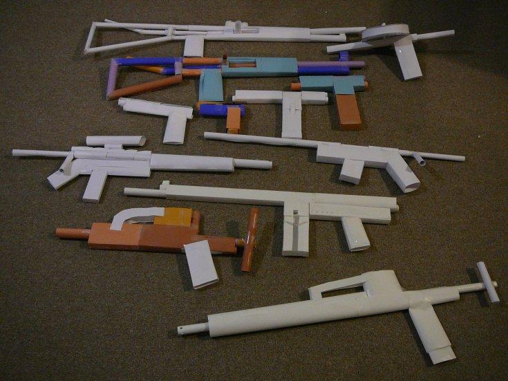 Картинки бумажное оружие