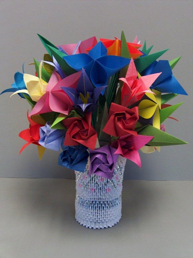 опозданием, цветы из оригами картинки все